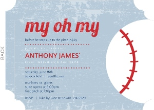 baseball party invitations, Party invitations