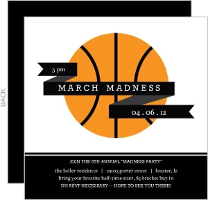 Modern Banner Ball Basketball Invitation