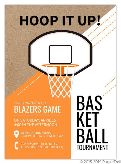 Basketball Border Basketball Invitation | Basketball ...
