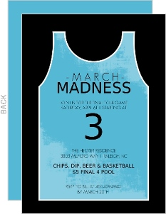 Black And Blue Jersey Basketball Invitation