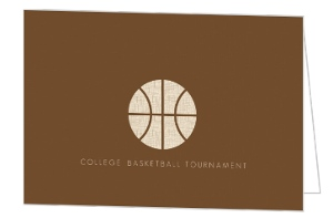 Brown And Burlap Silhouette Basketball Invitation