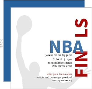 Nba Hops Basketball Invitation