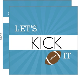Kick Off Football Invitation