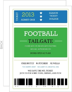 Season Ticket Holder Football Invitation
