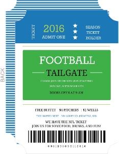 Season Ticket Holder Football Invitation