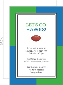 Team Colors Football Party Invitaiton