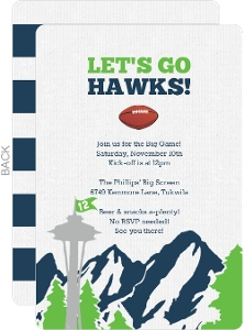 football party invitations, Party invitations