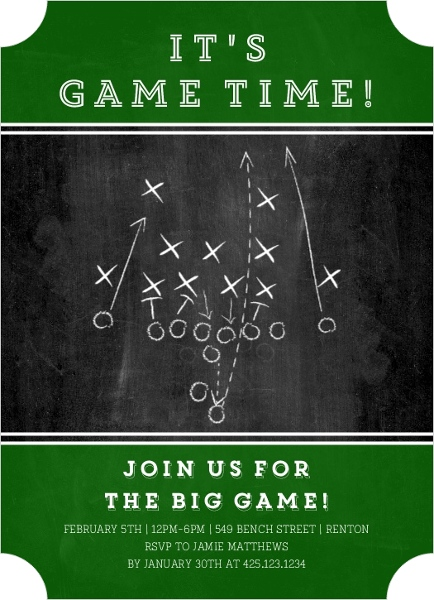Football Party Invitations – Football Party Invites