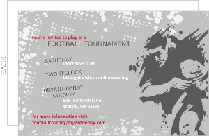 Gray Annual Football Party Invitation