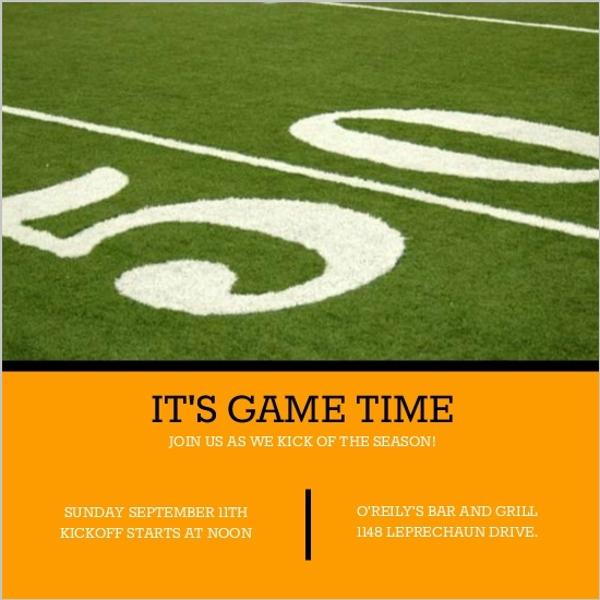50 Yard Line Football Invitation Football Invitations