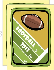 Football Field Football Invitation