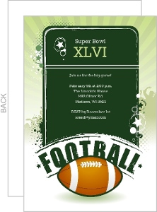 Festive Super Bowl Party Invitation