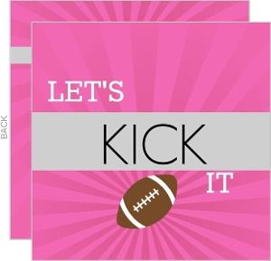 Ladies Football Night Football Invitation