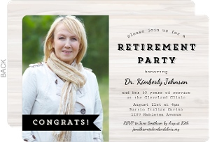 Congratulations Banner Business Retirement Invitation