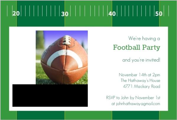 yardline football party invitation  football invitations, Party invitations