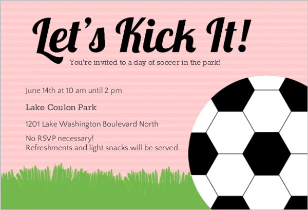 Free Soccer Invitations with best invitation design
