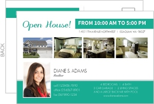 Realtor Business Open House Postcard Invitation