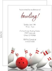 Strike Bowling Invitation