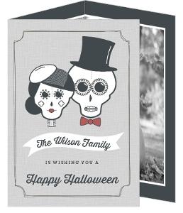Sugar Skulls Photo Halloween Card
