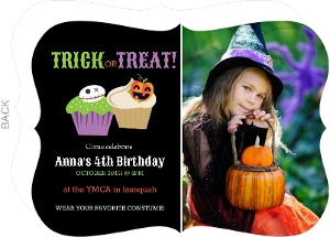 Halloween Cupcakes Halloween Birthday Invitation