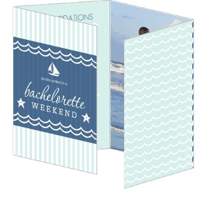 Nautical Blue And Mint Surprise Bachelorette Party Invitation