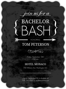 Chalk Board Black Bachelor Party Invitation