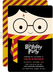 Cute Wizard Birthday Party Invitation
