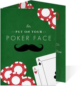 Poker Surprise Bachelor Party Invitation