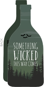 Green Wicked Forest Halloween Party Invitation