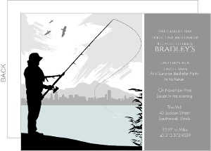 Fly Fishing Bachelor Party Invitation