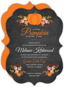 Autumn Floral Baby Shower Invitation