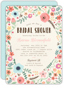 Whimsical Garden Frame Bridal Shower Invitation
