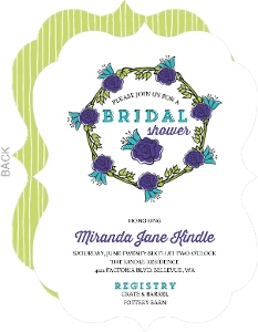 Whimsical Spring Wreath Bridal Shower Invitation