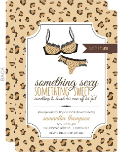 Leopard Pattern Lingerie Bridal Shower Invitation