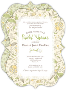 Whimsical Yellow Floral Bridal Shower Invitation