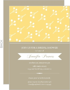 Yellow Berries Bridal Shower Invite