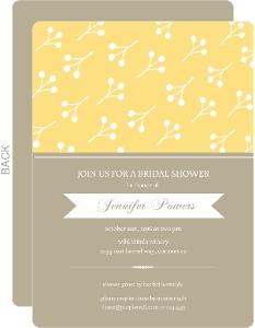 Yellow Berries Bridal Shower Invite