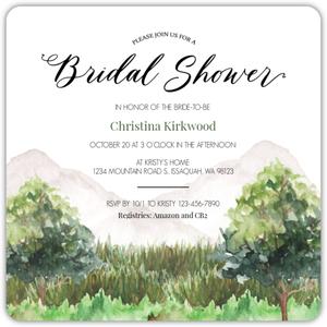 Beach Shell  Bridal Shower Invitation