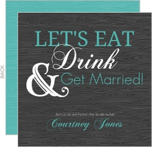 Eat drink get married bridal shower invite 6616 0 big