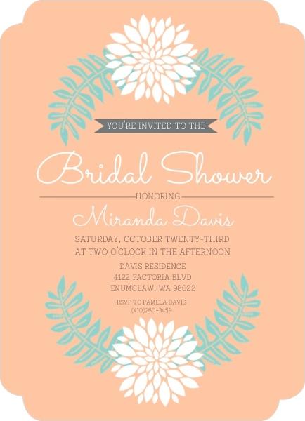 Bridal shower invitation bridal shower invitations for Bridal shower email invitations