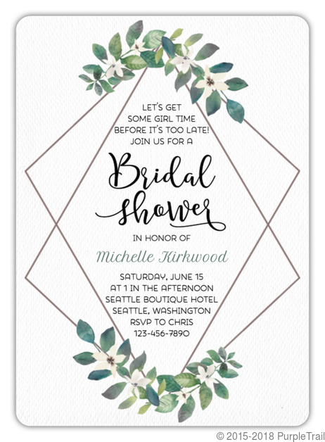 Movie Themed Date Night Bridal Shower Invitation