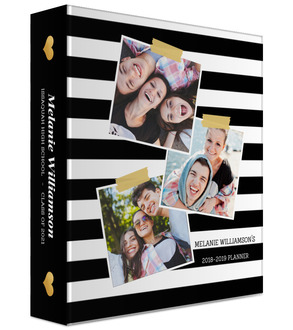 Photo Snapshot Stripes Student Mini 3 Ring Binder