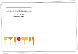 Modern Colorful Drinks Housewarming Full Envelope