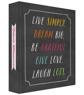 Live Simply 3 Ring Binder Mom Planner