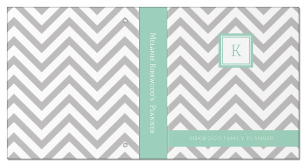 simply chevron 3 ring binder mom planner