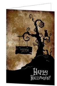 Rusted Scary Halloween Greeting Card