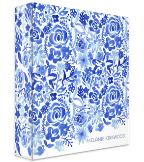 Cascading Handpainted Floral Student 3 Ring Binder