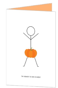 Ready To Be Picked Funny Halloween Greeting Card