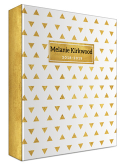 Golden Modern Triangle Pattern Student 3 Ring Binder
