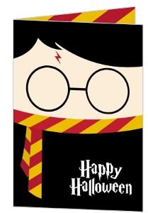 Cute Wizard Halloween Greeting Card